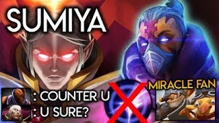 Sumiya Invoker God on How to Counter Anti-Mage Blink vs Miracle Fanboy Easy Dota 2