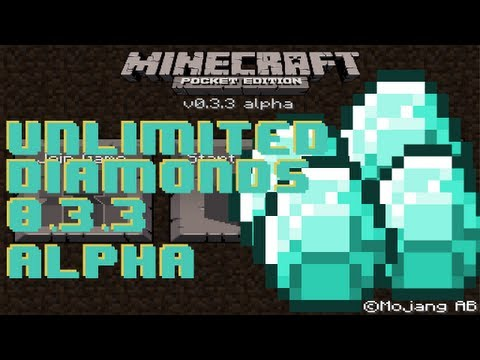 Minecraft Pocket Edition - Unlimited Diamonds in Version 0.6.1 Alpha iPod/iPad/iPhone/Android