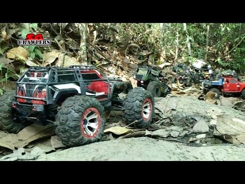 8 RC Scale Trucks 4x4 offroad adventures Summit Trail Finder 2 SCX10 Hummer honcho Wraith