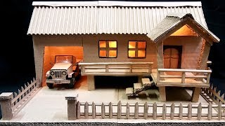 How to Make a Farmhouse Model with Light from Cardboard