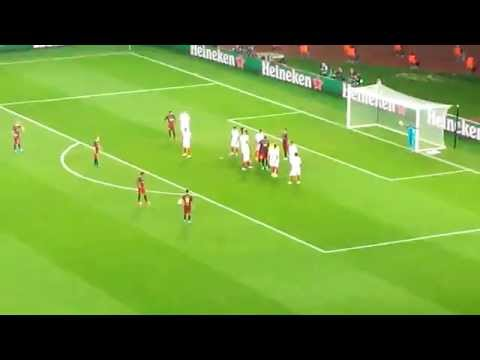 2015 TBilisi  messi first goal (barcelona 5 - 4 sevilia)