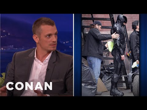 Joel Kinnaman's Robocop Wardrobe Malfunction video