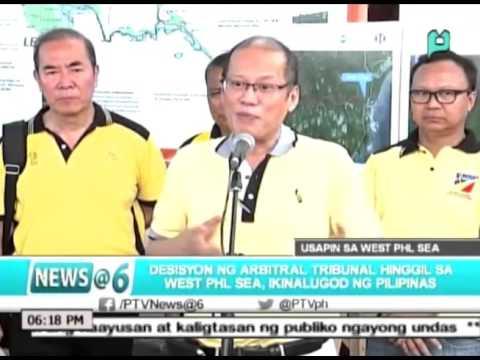[News@6] Debisyon ng Arbitral Tribunal hinggil sa West Phl. Sea, ikinalugod ng Pilipinas [10|31|15]