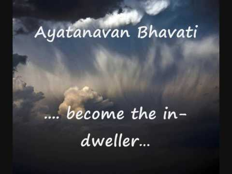 Mantra With English Sub-titles  Mantra Pushpam  Yajur Veda  Chant For Self- Awareness video