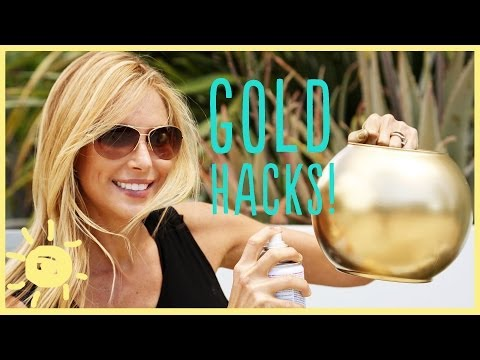 DIY   3 GOLD SPRAY PAINT HACKS!