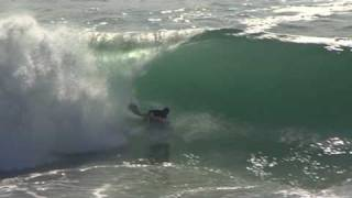 Quiberon: Big waves shorebreak bodyboarding cote sauvage destroy Brittany
