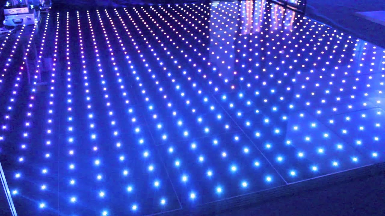 Illuminated Led Pixel Rgb Visualisation Dance Floor Youtube