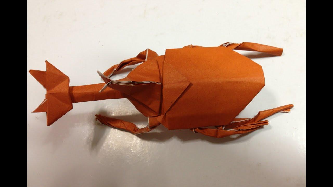 折り紙の 折り紙の織り方 : 折り紙 カブトムシ 折り方 ...