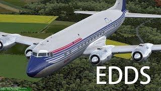 Prepar3D v4 - PMDG DC-6B approch EDDS