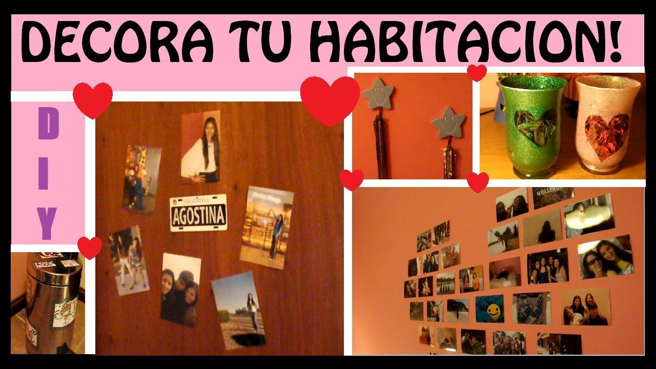 Diy decora tu habitacion con ideas faciles youtube for Ideas para decorar mi cuarto