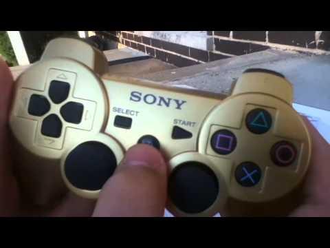 PS3 Dualshock 3 Wireless Controller Unboxing (Metallic Gold)   Gamestop Exclusive
