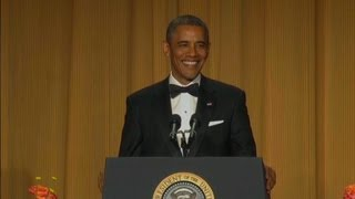 Raw video: Obama at White House Correspondents' dinner