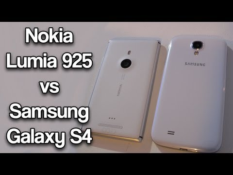Nokia Lumia 925 vs Samsung Galaxy S4
