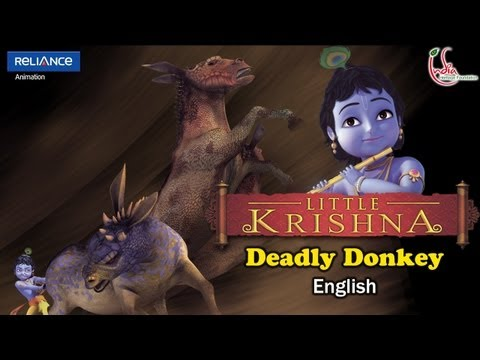 Little Krishna English Episode 7 deadly Donkey Animation Series video