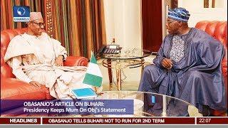 Presidency Keeps Mum On Obj's Statement 23/01/18 Pt.1 |News@10|