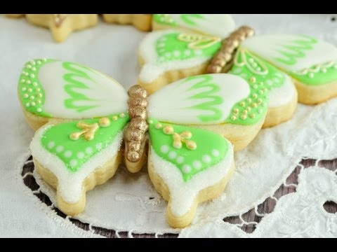 How to decorate butterfly cookies youtube - How to decorate butterfly ...