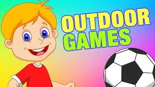 Outdoor Games Names For Kids | Simba Tv | #KidsLearning | 3D Animated Video for Childrens
