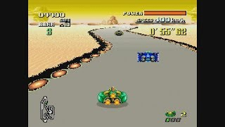 F-Zero | Knight League - Expert Class Gameplay | ©1990 Super Nintendo Entertainment System