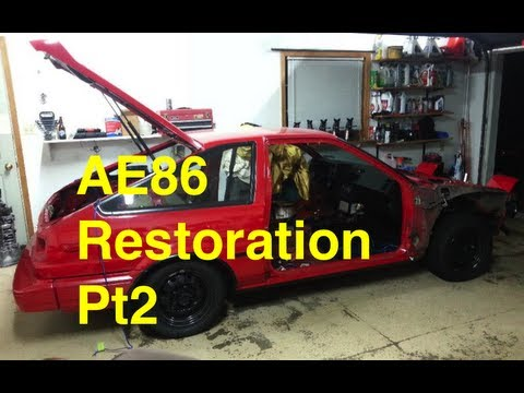 Eps 7. AE86 Restoration Project Day 1 pt 2