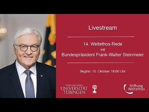 14. Weltethos-Rede mit BundesprГsident Frank-Walter Steinmeier