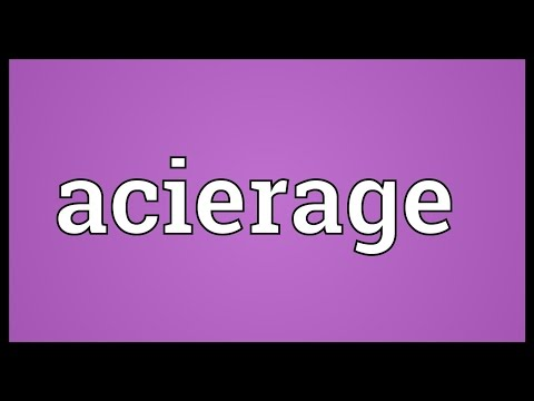 Header of Acierage
