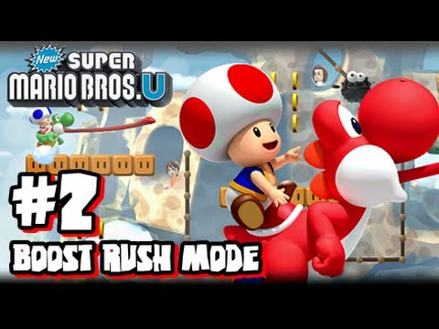 New Super Mario Bros U Wii U - Boost Rush Mode #2