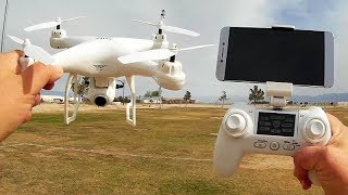 SJRC S20W GPS FPV Follow Me Camera Drone Flight Test Review
