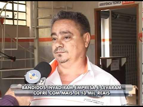 Assaltantes invadiram empresa em Uberlândia e levaram R$13 mil