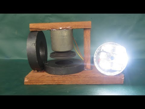 Free energy technology magnet motor with light bulbs - Science school projects at home thumbnail
