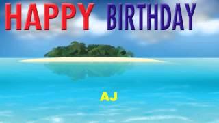 AJ   Card Tarjeta - Happy Birthday