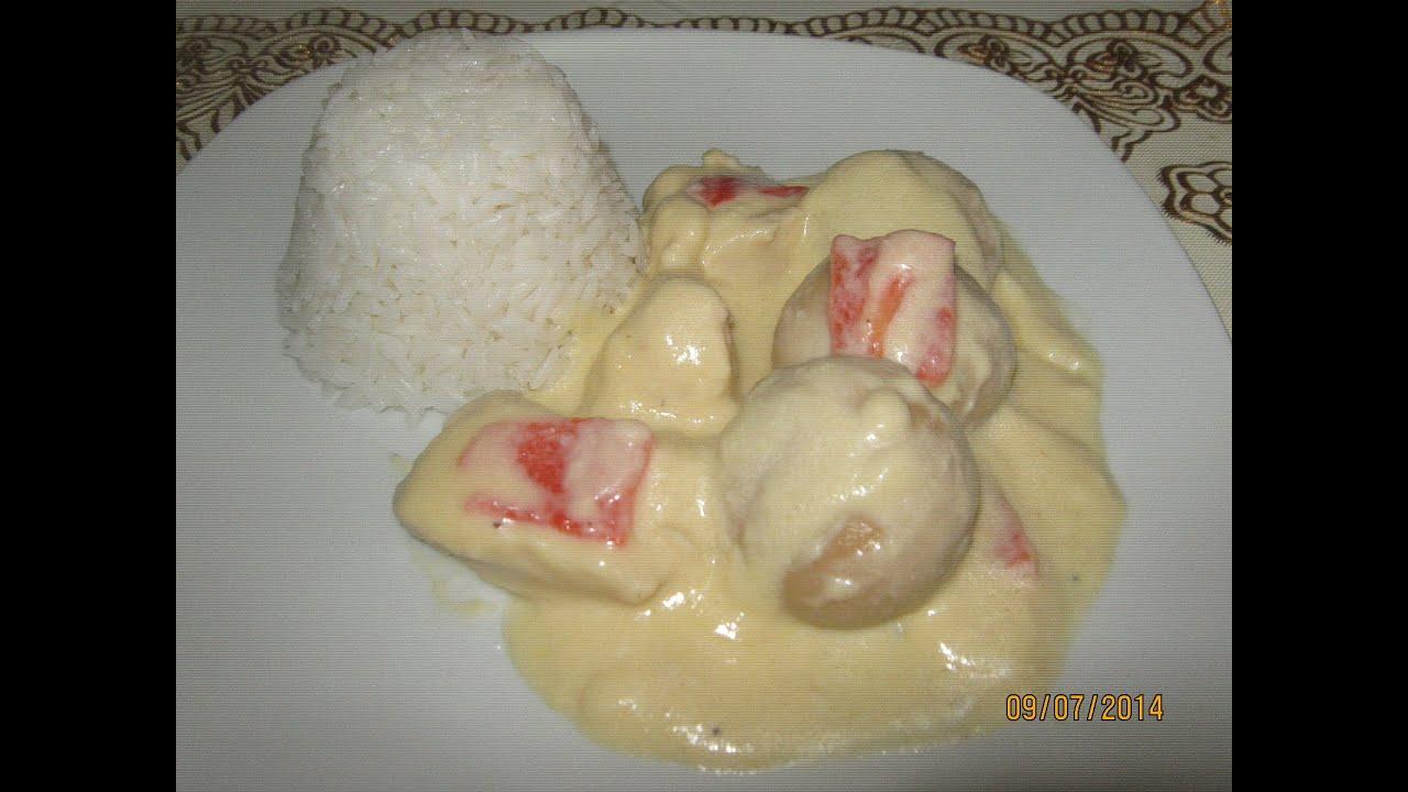 Pollo en Salsa Con Champiñones Pollo en Salsa Blanca