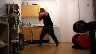 MMA training Training left and right elbows with low speed and power