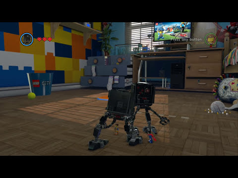 LEGO Movie Videogame - Golden Instruction Build #11 - Micro Manager (Walker)