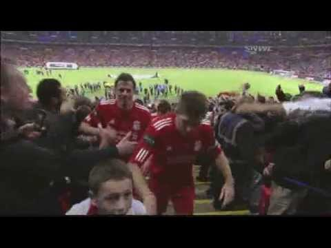 Liverpool Lift Carling Cup 2012 celebration