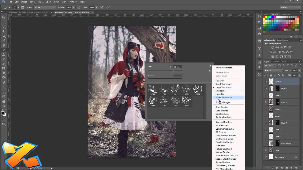 how to make new channel photoship cs6