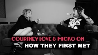 Courtney Love and Micko on