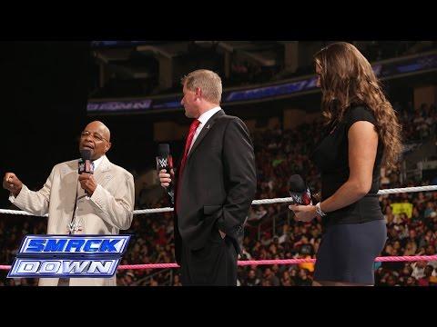 Theodore Long, Stephanie McMahon and John Laurinaitis create history: SmackDown, Oct. 10, 2014 thumbnail