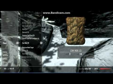 The Elder Scrolls V: Skyrim Cheats and Glitches: Dawnstar Invisible Chest