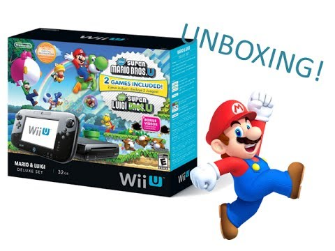 Wii U Mario And Luigi Bundle Unboxing