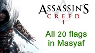 """Assassin's Creed 1"", All 20 Assassins flags locations in Masyaf"