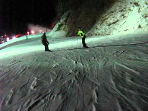 Skiing and snowboarding at Cataloochee Resort in Maggie Valley, NC