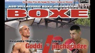 Boxe Professionisti – Alessandro Goddi vs Giorgi Jincharadze
