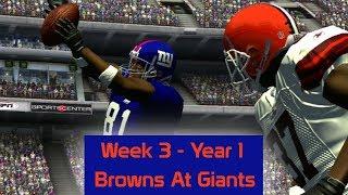 ESPN NFL 2K5 - Cleveland Browns At New York Giants - Week 3