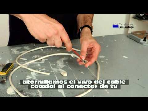 Cómo hacer un cable coaxial para televisión