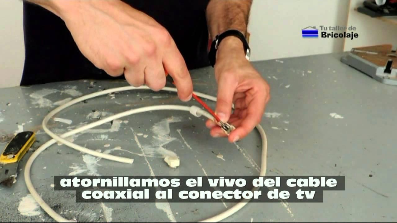 C mo hacer un cable coaxial para televisi n youtube for Amplificador tv cable coaxial