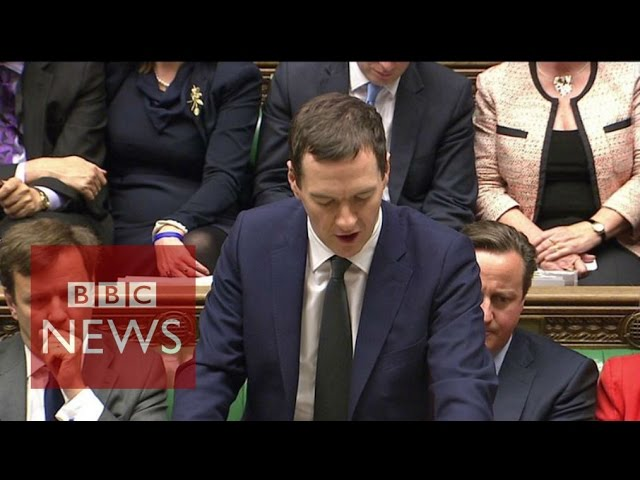 Spending Review Chancellor Osborne's opening line - BBC News