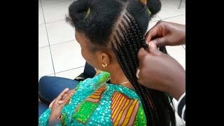 FEED IN BRAID STYLE(3 layer cornrows)