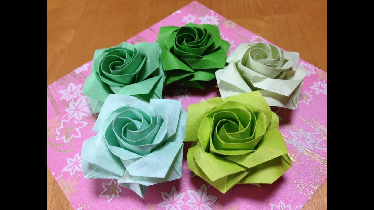 折り紙の 折り紙の折り方 簡単 : 佐藤ローズ四角の達人折り ...