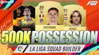 500K LA LIGA UNREAL POSSESSION FIFA 19 Squad Builder w/ Custom Tactics & Player Instructions