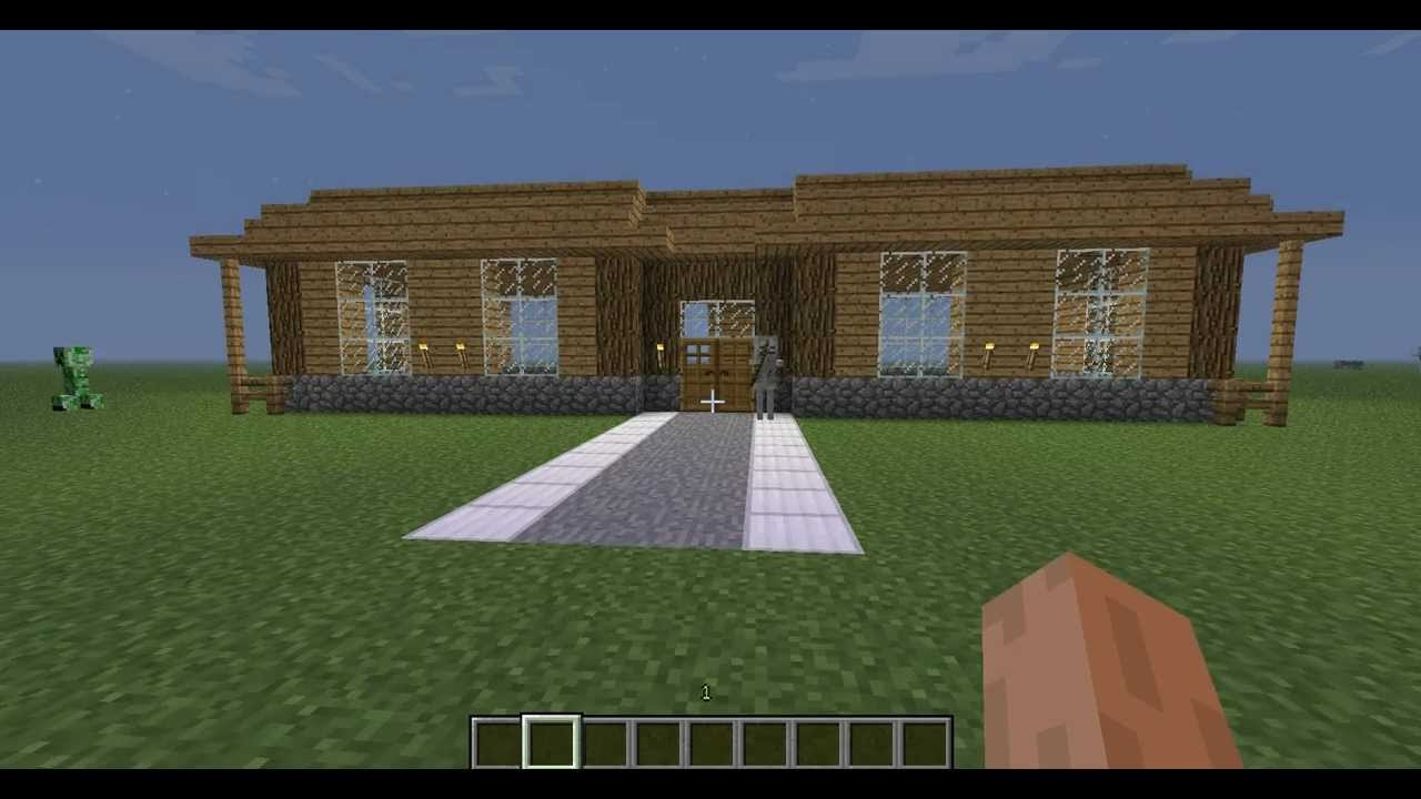 Minecraft tutoriel comment construire une grande maison for Maison simple a construire